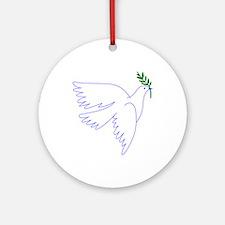 Dove Olive Branch Ornament (Round)