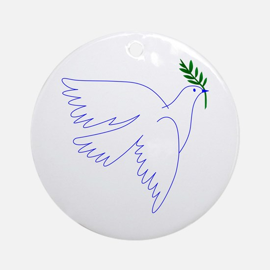 Dove Olive Branch Ornament (Round)