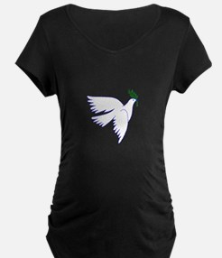 Dove Olive Branch Maternity T-Shirt