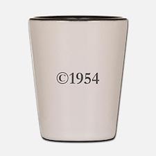 Copyright 1954-Gar gray Shot Glass