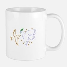 Two Doves with Stars Mugs