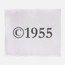 Copyright 1955-Gar gray Throw Blanket