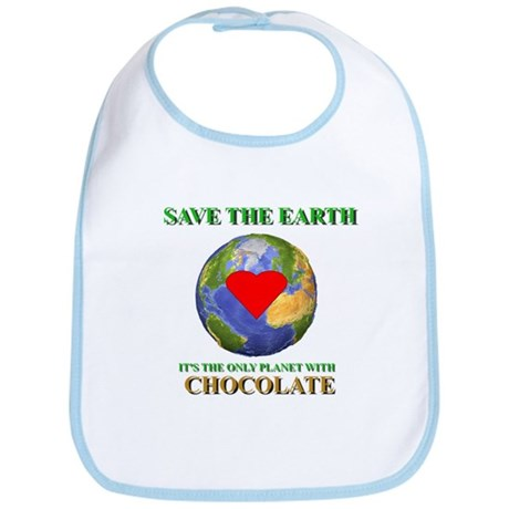 Earth Chocolate Bib