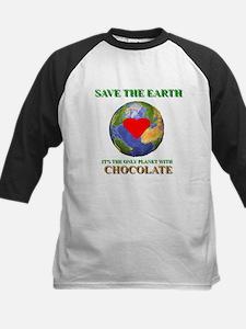 Earth Chocolate Kids Baseball Jersey