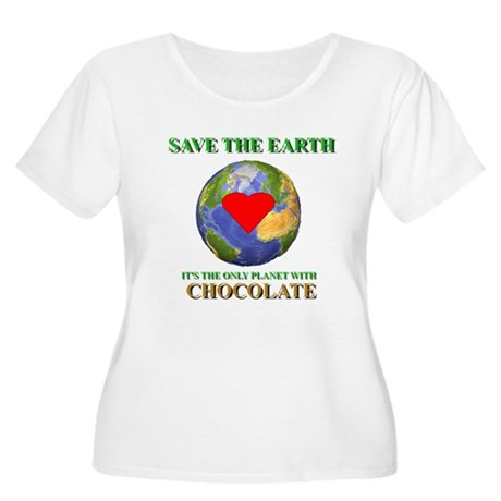 Earth Chocolate Women's Plus Size Scoop Neck T-Shi