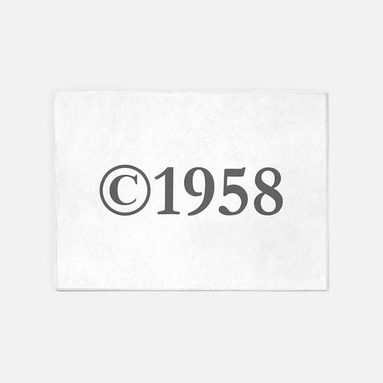 Copyright 1958-Gar gray 5'x7'Area Rug