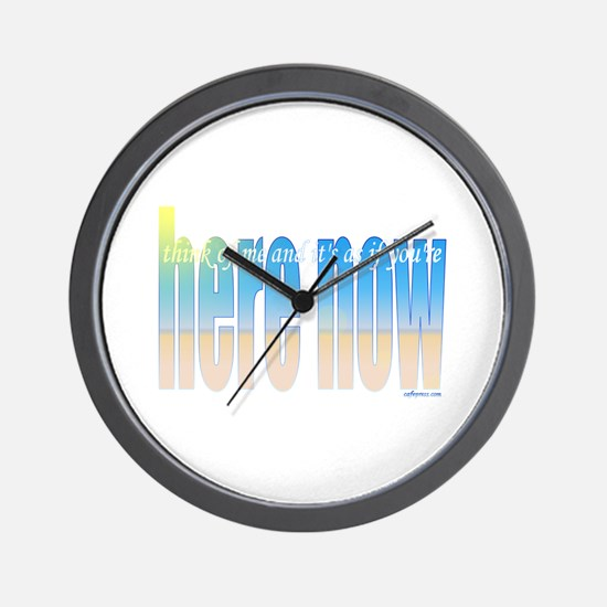 Here now Wall Clock