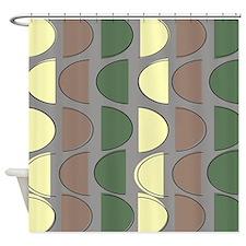 Mid-Century Modern Abstract 9 Shower Curtain
