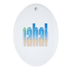 Funny Beliefs Oval Ornament