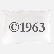 Copyright 1963-Gar gray Pillow Case