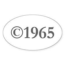 Copyright 1965-Gar gray Decal