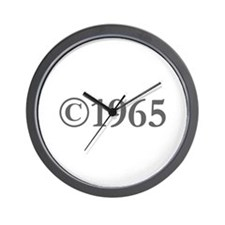 Copyright 1965-Gar gray Wall Clock