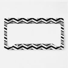 Black and White Chevron Patte License Plate Holder