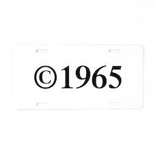 Copyright 1965-Tim black Aluminum License Plate