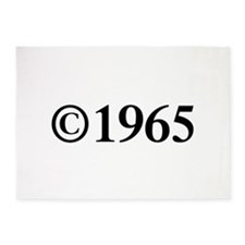 Copyright 1965-Tim black 5'x7'Area Rug