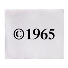 Copyright 1965-Tim black Throw Blanket
