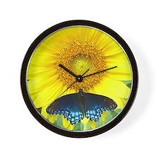 Sunflower Butterfly Wall Clock