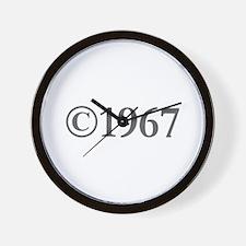 Copyright 1967-Gar gray Wall Clock