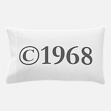 Copyright 1968-Gar gray Pillow Case