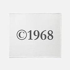 Copyright 1968-Gar gray Throw Blanket