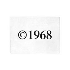 Copyright 1968-Tim black 5'x7'Area Rug