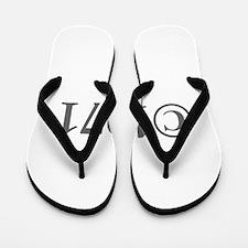 Copyright 1971-Gar gray Flip Flops