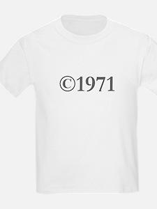 Copyright 1971-Gar gray T-Shirt