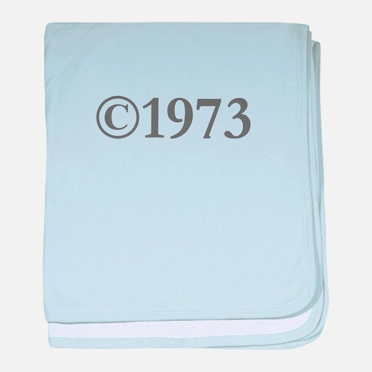 Copyright 1973-Gar gray baby blanket