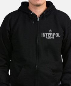 Cute International police Zip Hoodie (dark)