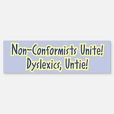 Unite-Untie - Bumper Bumper Bumper Sticker
