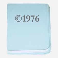 Copyright 1976-Gar gray baby blanket
