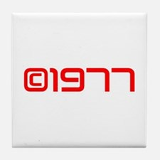 Copyright 1977-Sav red Tile Coaster