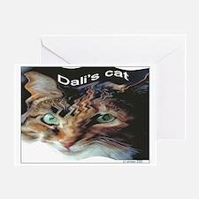 Dali's Cat Card Greeting Cards