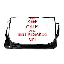 Keep Calm and Best Regards ON Messenger Bag