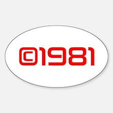 Copyright 1981-Sav red Decal