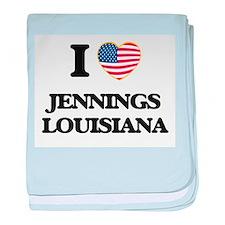 I love Jennings Louisiana baby blanket