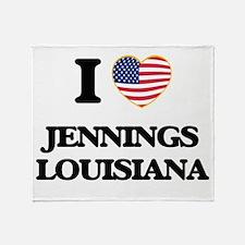 I love Jennings Louisiana Throw Blanket