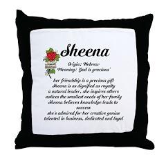 Throw Pillow Name Origin : Sheena Name Meaning Design Throw Pillow > Female Name Meanings N-Z > Inspiration Station