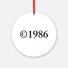 Copyright 1986-Tim black Ornament (Round)