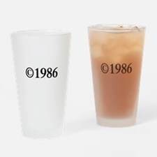 Copyright 1986-Tim black Drinking Glass