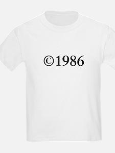 Copyright 1986-Tim black T-Shirt