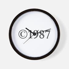 Copyright 1987-Gar gray Wall Clock