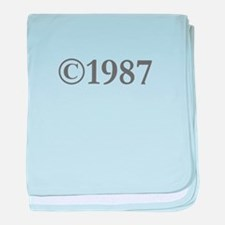 Copyright 1987-Gar gray baby blanket