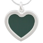 Tartan - Mull dist. Silver Heart Necklace