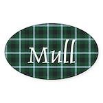 Tartan - Mull dist. Sticker (Oval 10 pk)
