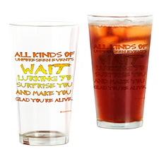 Unforseen Events - Kerouac Drinking Glass
