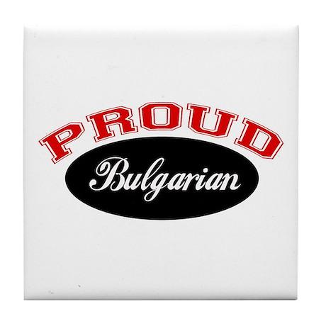 Proud Bulgarian Tile Coaster