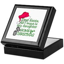My Daughter Home For Christmas Keepsake Box