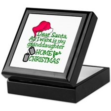 Granddaughter Home For Christmas Keepsake Box