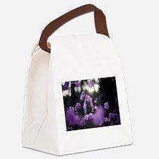 Purple Azaleas of Hope Canvas Lunch Bag